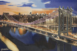 Декор (63.8x96.3) 24185- Landscapes Brooklyn Bridge - Steve Kaufman