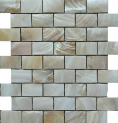 Мозаика (25x28.5) RIL-CR-B25 Cream Shell B253*4,8 - Rilievi