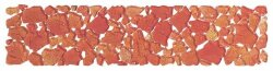 Бордюр (7x30) BKL3-M-RF Brook Listello Grande Mineral Rosso Fuoco Lucido - Brook