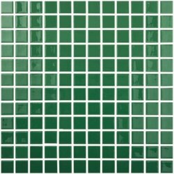 Мозаика 31,5x31,5 Colors Verde Oscuro 602