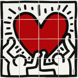 Декор (80x80) GFKHD00L - Game Of Fifteen: Keith Haring