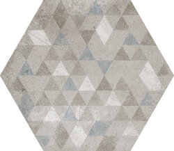 Плитка 29,2x25,4 Urban Hexagon Forest Silver 23615