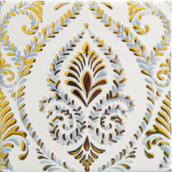 Декор (15x15) OATLBA DECORO GOLD A LIGHT BLUE - Atelier Gold