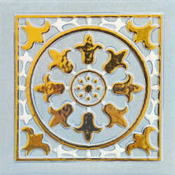 Декор (15x15) OATLBB DECORO GOLD B LIGHT BLUE - Atelier Gold