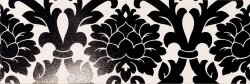 Декор (24x72) 77006- Decorovelvet(A+B)White/Black - New Baroque