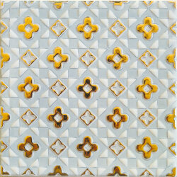 Декор (15x15) OATLBD DECORO GOLD D LIGHT BLUE - Atelier Gold