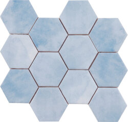 Мозаика (23.2x26.4) Malla Panal Hexagon Azul 23,2 x 26,4 - Panal Hexagon