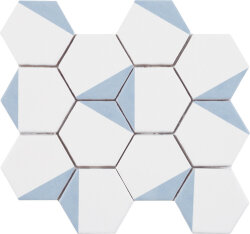 Мозаика (23.2x26.4) Malla Panal Hexagon Dec.1 Azul 23,2 x 26,4 - Panal Hexagon