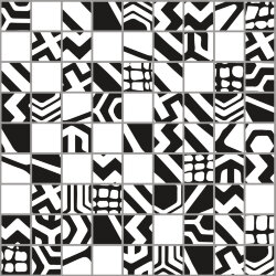"Мозаика (23.7x23.7) 149021 Mosaico Mix""1""Black/White Rect - Moodboard"