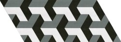 Декор (9x20.5) 23211 Chevron patchwork b&W right eq-10D - Chevron