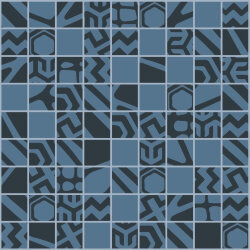 "Мозаика (23.7x23.7) 149023 Mosaico Mix""3""Black/Blue Rect - Moodboard"