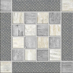 Декор (15x15) J84351 Mtlw Grey Inserto - Metalwood