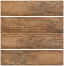 Декор (15x61) J84374 Mtlw Tobacco Bordo Mix - Metalwood