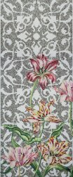 Мозаика (290.5x120.5) Tulips Grey A - Decori in Tecnica Artistica