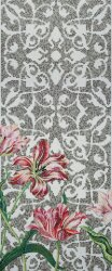 Мозаика (290.5x120.5) Tulips Grey B - Decori in Tecnica Artistica