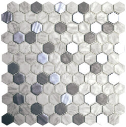 Мозаика (31.9x29) 2002941 HexBlendMetalCarrara - Hexagon Blends