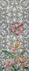 Мозаика (290.5x120.5) Tulips Grey Single - Decori in Tecnica Artistica